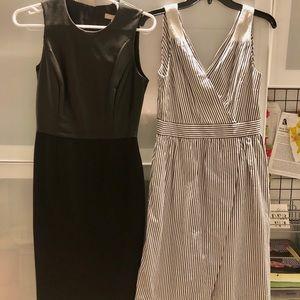 (2)NWT Banana Republic Sloan Leather + White Dress